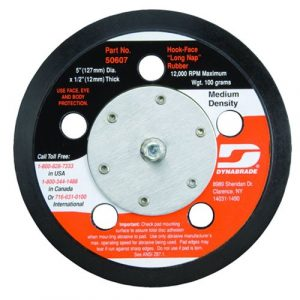 "Dynabrade 50610 6"" (152 mm) Dia. Vacuum Disc Pad, Hook-Face, Long Nap"