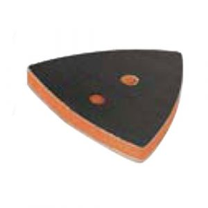 "Dynabrade 57955 2-7/8"" (73 mm) W x 3-1/8"" (79 mm) L Non-Vacuum Dynafine Triangular Disc Pad, Hook-Face, Long Nap"