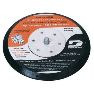 "Dynabrade 50606 6"" (152 mm) Dia. Non-Vacuum Disc Pad, Hook-Face, Long Nap"
