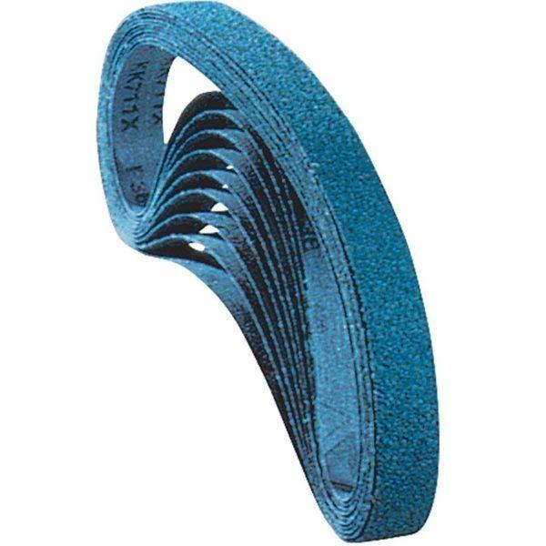 19x457mm Zirconia/Aluminium Oxide Belts, Grits 40-400
