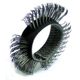 "Dynabrade 92248 4"" (102mm) Dia. x 1/2"" (13mm) Bent Coarse Wire Wheel"